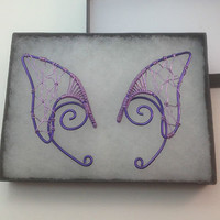 ❤ PuRpLE & LiLaC eLf eaRs ❤ eLf ❤ FaEry cHiC ❤ LaRp ❤ hANdcRafTEd 4 FaiRiEs ❤