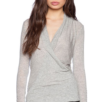 Velvet by Graham & Spencer Autumn Gauze Fairy Top in Gray