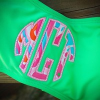 Monogrammed Lilly Pulitzer Bandeau