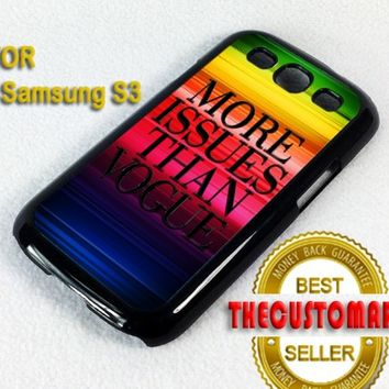 More issues than vogue - For Samsung Galaxy S3 i9300 Black Case Cover