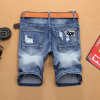 Denim Summer Ripped Holes Vintage Pants Shorts [10699377987]