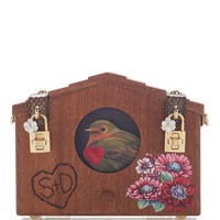 Embellished Wood Shoulder Bag | Moda Operandi
