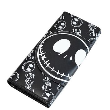 wallet for women Cartoon skull Print wallet womens luxury purses female Pocket Money Bag Hot Sale