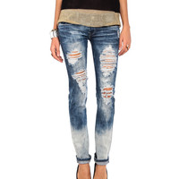 Ombre Wash Destroyed Jeans - 2020AVE