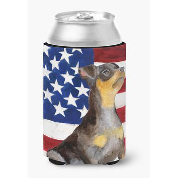 Miniature Pinscher #2 Patriotic Can or Bottle Hugger BB9724CC