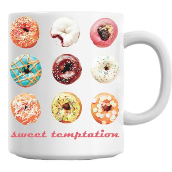 Donuts Sweet Temptation Mug
