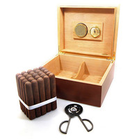 Combo Cubano Cigar Humidor with Cigars Gift Set