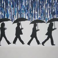 "The Beatles ""Rain"" - Melted Crayon Artwork"