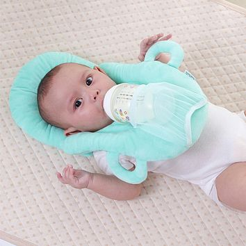 Newborn Nursing Pillow Protective Kids Head Pad Cushion Stuffed Safety Pillows Put Feeding in the Pillow for Baby Feeding