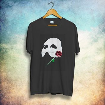 90s THE Phantom Of The Opera musical movie indie RARE Vintage T-Shirt  reprint