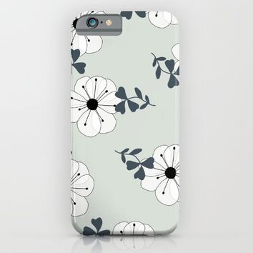 Delicate Flowers Pattern iPhone & iPod Case by oursunnycdays