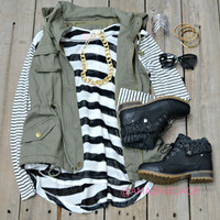 You're So Classic Black & White Striped Knit Top