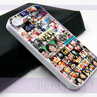 Iphone Case - Iphone 4 Case - Iphone 5 Case - Samsung s3 - samsung s4 - One Direction Collage - Photo Print on Hard Plastic