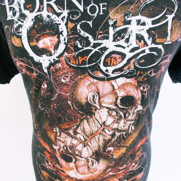 Retro Born Of Osiris  Death Metal Tour T-Shirt Large Music Rockstar