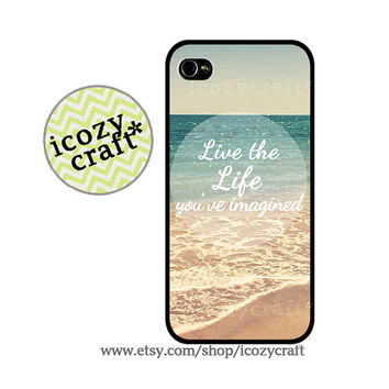 beach iphone 5 case,quote iphone 4 case, iphone 4s case , vintage ,retro galaxy s3 case iphone cover -129