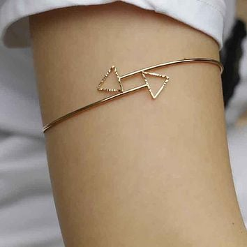 Women Upper Arm Armlet Chain Bracelet Cuff Jewelry GD