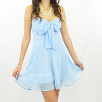 Bring Me To Bali Strapless Dress Powder Blue