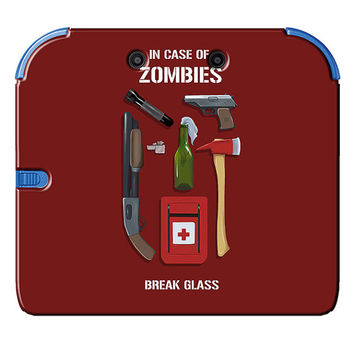 Zombie Survival Kit Art Print Nintendo 2DS Plastic Case Unique Gamer Geek