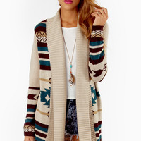 Trisha Tribal Cardigan $72