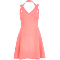 River Island Womens Pink strappy skater dress