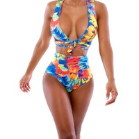 Womens Colorful Summer Swimsuit Swimwear Bathing Suit