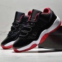 Nike Air Jordan 11 AJ11 Antiskid and Wear-Resistant Sports Shoes with Low-Up Basketball Shoes-1