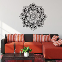 Mandala Wall Decal- Mandala Wall Sticker- Mandala Bedding Vinyl Design- Yoga Namaste Mandala Wall Art Living Room Bedroom Home Decor 0066