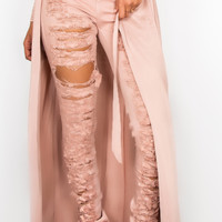 Shredded Dusty Rose Jeans