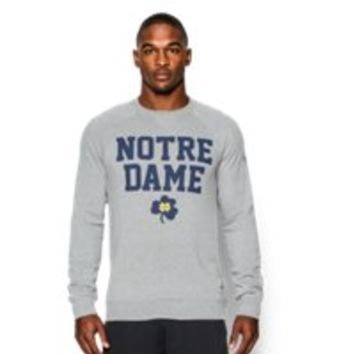 Under Armour Men's Notre Dame UA Iconic Fleece Crew