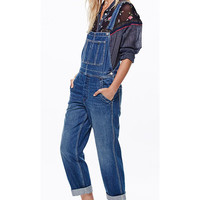 Free People Women's Boyfriend Denim Overalls