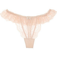 Elle Macpherson Intimates|Sultry Dreams stretch-silk and lace thong|NET-A-PORTER.COM