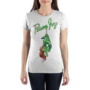 DC Comics Poison Ivy Hanging White  T-Shirt