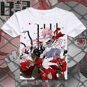 Future Diary Short Sleeve Anime T-Shirt V7