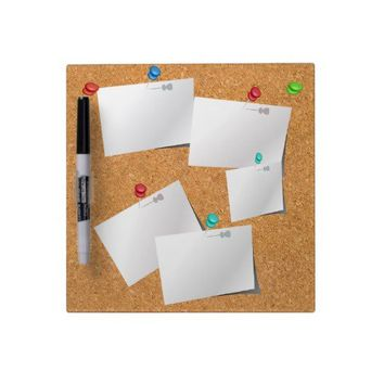 Novelty Fake Effect Cork Board Notes Dry-Erase Boards from Zazzle.com