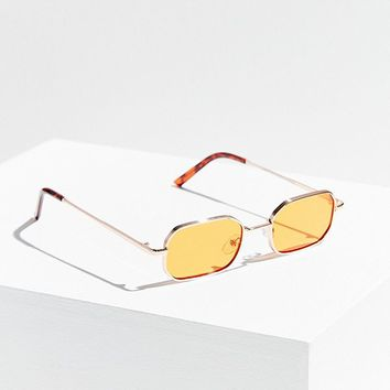 Dash Slim Rectangle Sunglasses | Urban Outfitters