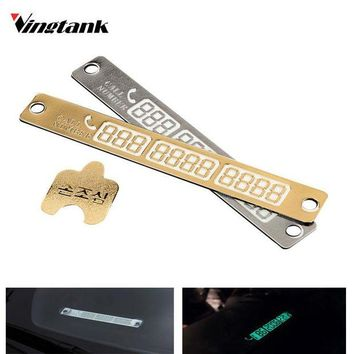 DCCKJY1 New Temporary Telephone Number Parking Card Car Styling Phone Number Card Notification Night Light Luminous Sucker Plate 15*2cm