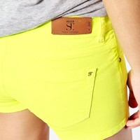 Supertrash Paradise Denim Shorts in Neon Wash