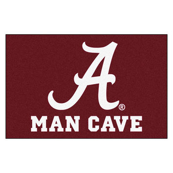 Alabama Crimson Tide NCAA Man Cave Starter Floor Mat (20in x 30in)