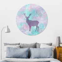«Deer silhouette I», Exclusive Edition Disk Print by eDrawings38 - From $85 - Curioos