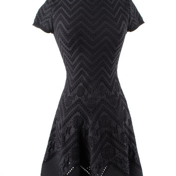Black Fitted Stretch Black Dress