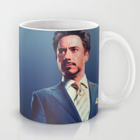 Tony Stark/ Iron Man/ Robert Downey Jr. Mug by Hands in the Sky