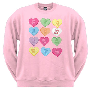 Valentine's Day - Candy Hearts Crewneck Sweatshirt