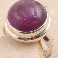 Precious Amethyst Sterling Silver in ring in 925