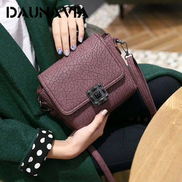 Small Vintage Casual Leather Handbags High Quality bag ladies Purses Clutch Bag Women Messenger Shoulder Crossbody Bags ND003
