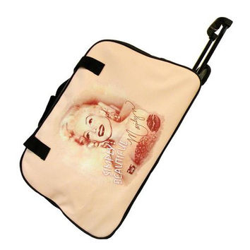 Licensed Marilyn Monroe Rolling Duffle Bag Luggage