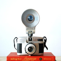 Vintage 1950's Camera Ansco Lancer 127 Film Camera with Flash Attachment West Germany