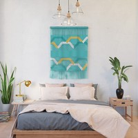 Teal Steps Wall Hanging by spaceandlines