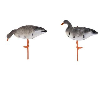 Full Body Goose Hunting Shooting Decoy Lawn Ornaments Garden Decors Eating Goose for Outdoor Fishing Supply Greenhand Gear