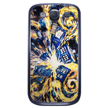 Starry Night Tardis Samsung Galaxy S3 Case
