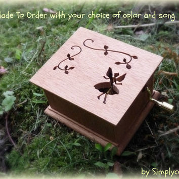 fairy, fairy music box, music box, musicbox, music box songs, custom made music box, personalized music box, customized music box,
